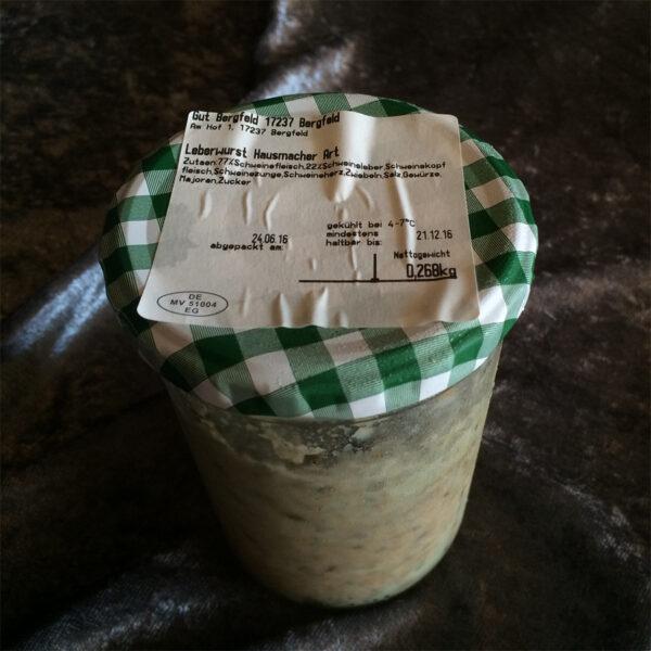 Leberwurst im Glas nach Hausmacher Art