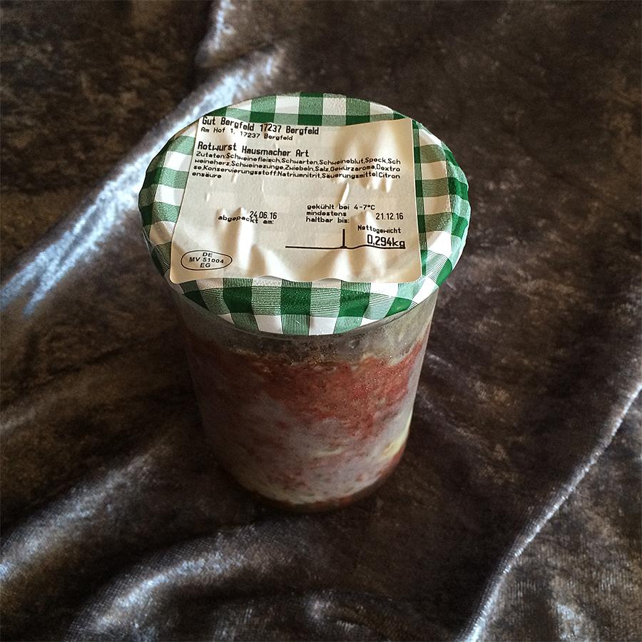 Rotwurst im Glas nach Hausmacher Art